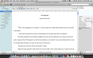 Screenshot of Scrivener.